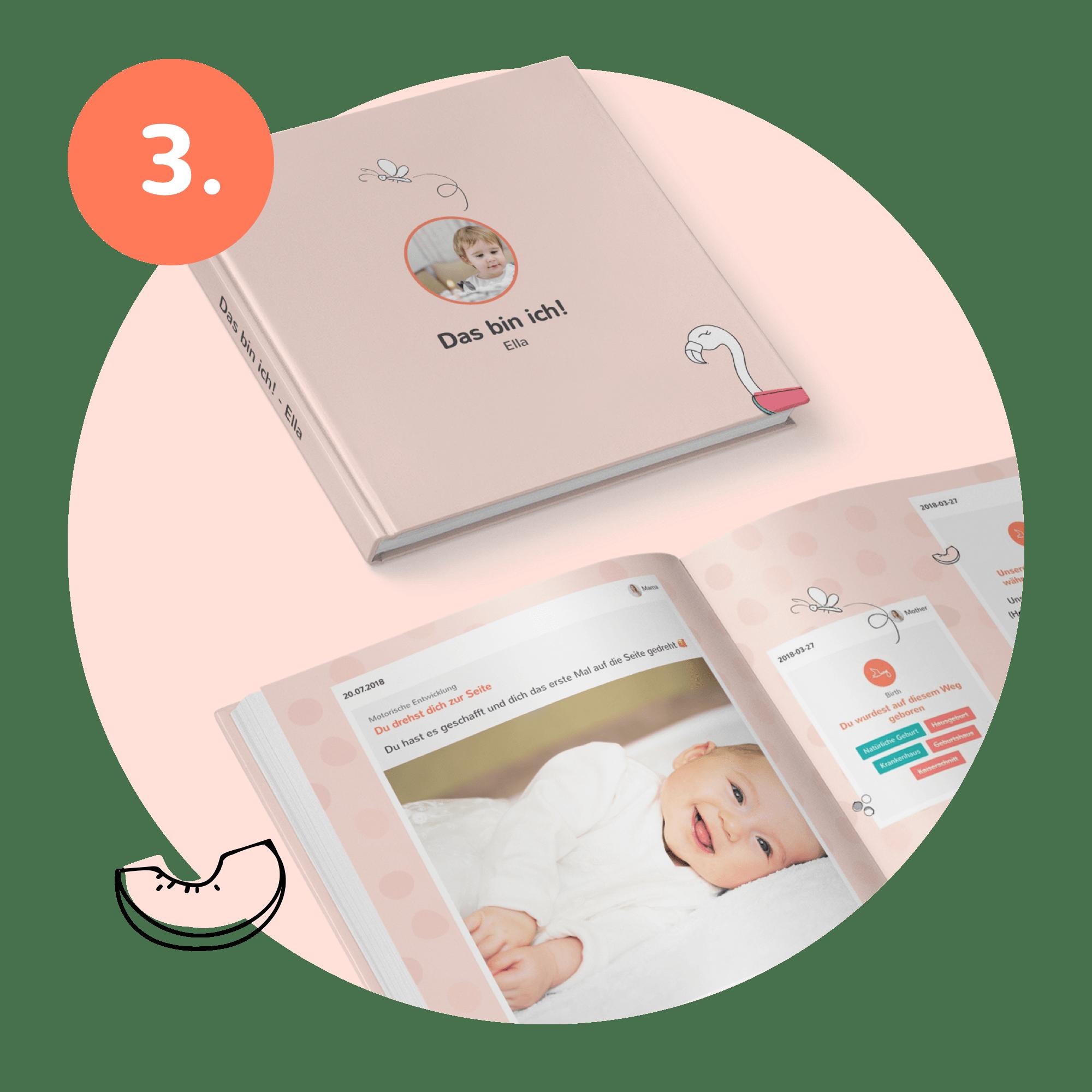Druck des selbst designten Erinnerungsbuches