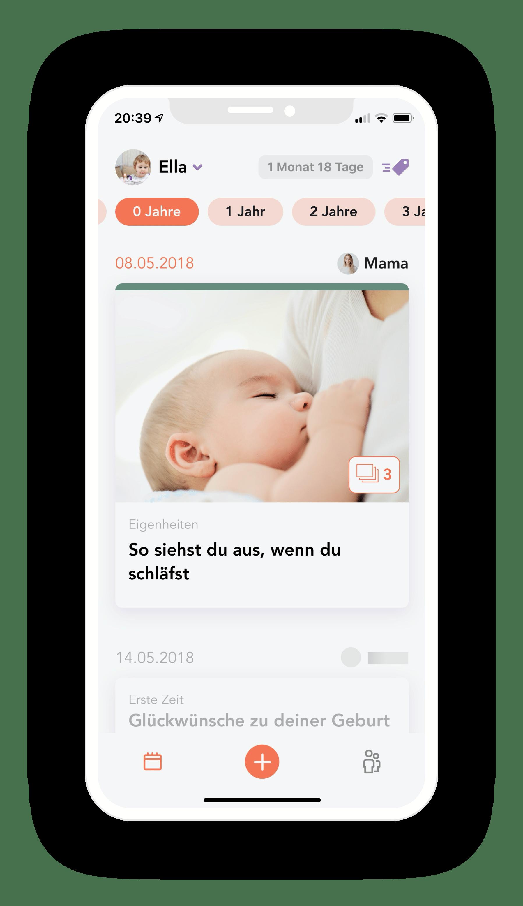 App Screenshot Juno Eintrag 0 Jahre