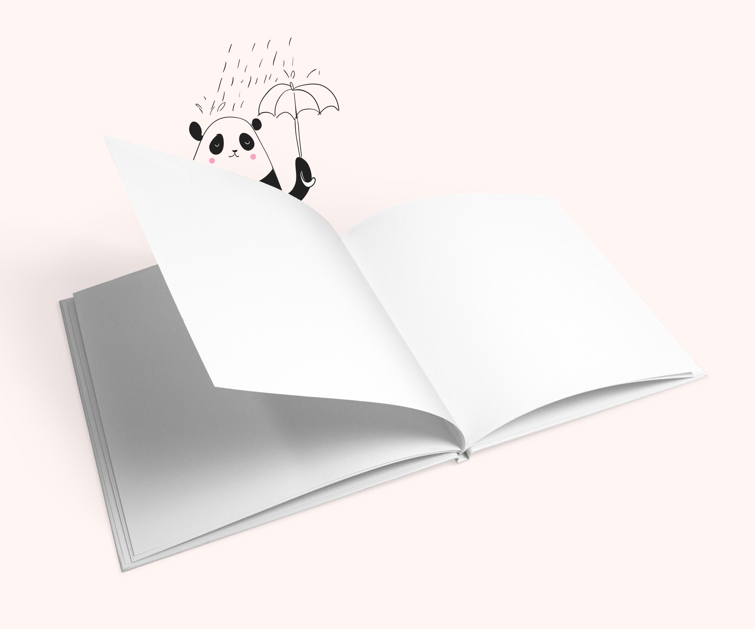 Erinnerungsbuch mit leeren Seiten
