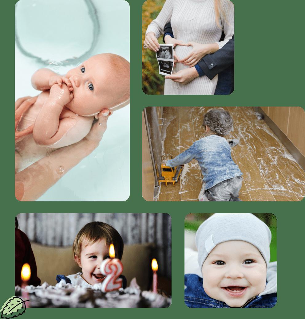 Collage Bilder Kinder und Babys